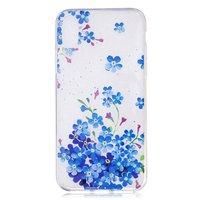 Klare Blumenbuchse iPhone X XS TPU Hülle - Blau