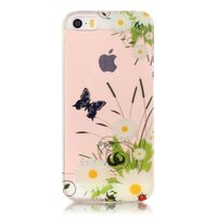 Klare Schmetterlingsgänseblümchen iPhone 5 5s SE 2016 TPU Hülle - Weiß Grün