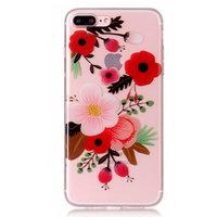 Blumenzweigetasche TPU iPhone 7 Plus 8 Plus - Bunt klar