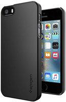 Spigen Thin Fit iPhone 5 5s SE 2016 Schwarzes Etui - Schwarzes Etui