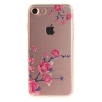 Klare Blütenzweige iPhone 7 8 SE 2020 TPU-Hülle - Pink Lila