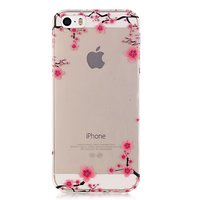 Translucent Graceful Blossom Branches iPhone 5 5s SE 2016 TPU-Hülle - Pink Black