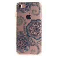 Klare Mandala Flower iPhone 7 8 SE 2020 TPU Hülle - Blau