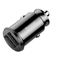 Baseus Universal Dual USB Autoladegerät 3.1 Ampere - Schwarz