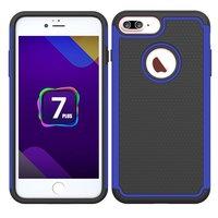 Zweiteilige Hybrid-Silikon-Kunststoffhülle aus iPhone 7 Plus 8 Plus - Blau Schwarz