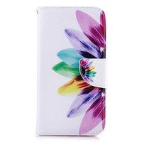 Bücherregal Brieftasche Floral Case Brieftasche iPhone XR - Weiß Pink