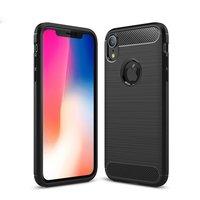 TPU-Hülle aus gebürstetem Carbon iPhone XR - Schwarz