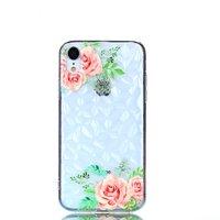 Diamant Fall TPU iPhone XR Fall - Blumen