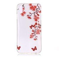 Blumenzweig mit Schmetterlingen Flexible TPU-Hülle für iPhone XS Max - Rot