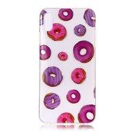 Donuts Flexible TPU Hülle iPhone XS Max - Pink Lila