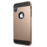 Gebürstete Schutzhülle iPhone XS Max Hülle - Gold