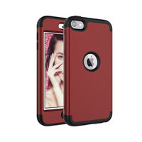 Rüstung Stoßfester Silikon Polycarbonat iPod Touch 5 6 7 Hülle - Rot