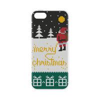 FLAVR Fall Hässlicher Weihnachtspullover Gelber Schnee Weihnachtsmann iPhone 5 5s SE 2016