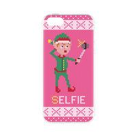 FLAVR Weihnachtskoffer Hässlicher Weihnachtspullover Elfen Selfie iPhone 5 5s SE 2016 - Pink