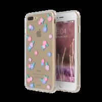 FLAVR iPlate Blumen transparent rosa blau iPhone 6 Plus 6s Plus 7 Plus 8 Plus - Transparent
