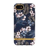 Richmond & Finch Hardcase Kunststoff Blumendschungel iPhone 6 6s 7 8 SE 2020 Fall - Blau