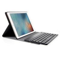 QWERTY Tastaturetui Leder Bluetooth-Abdeckung iPad 2017 2018 Pro 9.7 Air 2