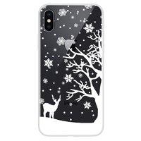 Weihnachten flexible Schneedecke Winter Fall Weihnachten iPhone X XS - Transparent