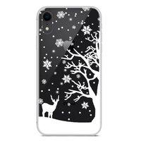 Weihnachten flexible Schneedecke Winter Fall Weihnachten iPhone XR - Transparent