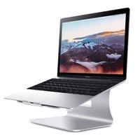 Datei Ergonomisches Aluminium Laptop Macbook Halter Ständer Ständer - Silber