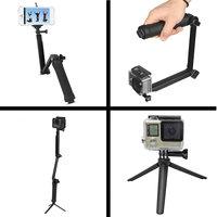 Faltbarer Griff 3-in-1 Selfie Stick Stativ Kamerahalter Einbeinstativ Steadycam - GoPro DLSR