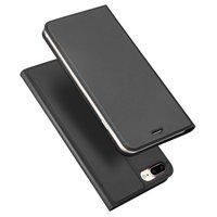 Dux Ducis Cover Booklet Etui Cover mit Klappenleder Cover iPhone 7 Plus 8 Plus - Schwarz