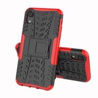 Hybrid Standardgehäuse stoßfeste Abdeckung iPhone X XS - Rot
