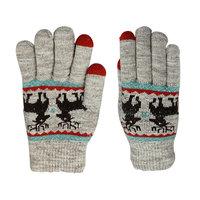 Handschuhe Touch Tip Handschuhe Hirsch bequem gestrickt - Grau