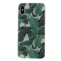 Blätter grün TPU Hülle iPhone X XS - Grüne Hülle