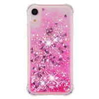 Glitter Powder Schutzhülle TPU iPhone XR - Pink Hülle