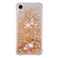 Moving Glitter Powder Schutz TPU iPhone XR Hülle - Gold Hülle