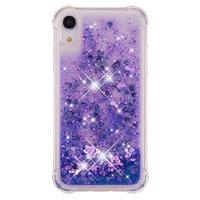 Moving Glitter Powder Lila Schutzhülle TPU iPhone XR - Dark Purple Hülle