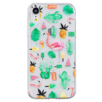 Cactus und Flamingo TPU Hülle für iPhone XR Cover