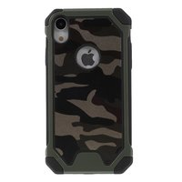 Camouflage Army Kunstleder TPU Protection Green Hülle für iPhone XR - Army Green