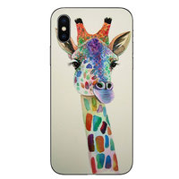TPU Abdeckung iPhone X XS Hülle - Giraffe