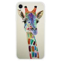 Weiche TPU-Hülle mit iPhone XR-Hülle mit Giraffendruck - Transparent