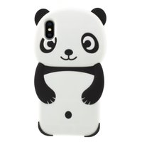 Panda Hülle Silikon iPhone XS Max - Schwarze Hülle