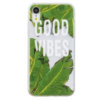 Bananenblätter iPhone XR TPU Hülle - Transparent Grün