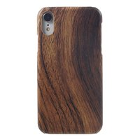 Holzoptik iPhone XR Hartschalenkoffer - Brown Wood Texture