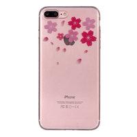 Blumen TPU Hülle iPhone 7 Plus 8 Plus Abdeckung - Transparent