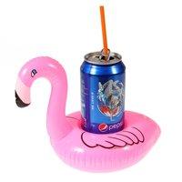 Aufblasbarer Flamingo-Getränkehalter - Pink