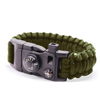 Überlebensarmband 9 Funktionen - Army Green Camping Rescue
