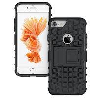 Schwarze Hybrid-Standardhülle iPhone 7 8 Hülle stoßfest