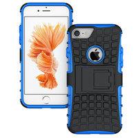 Blau schwarz Hybrid Standard Hülle iPhone 7 8 Hülle stoßfest