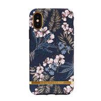 Richmond & Finch Floral Jungle Gold Details Fall iPhone X Hülle - Blau