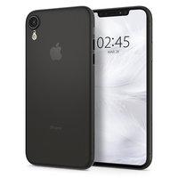Spigen Air Skin Hülle iPhone XR transparente Hülle - Schwarz transparent